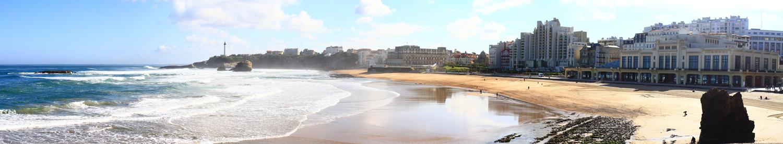 Biarritz, la Grande Plage - Panorama