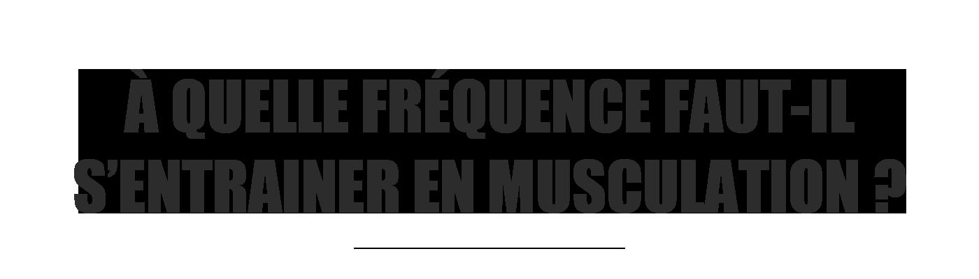 fréquence entrainement musculation