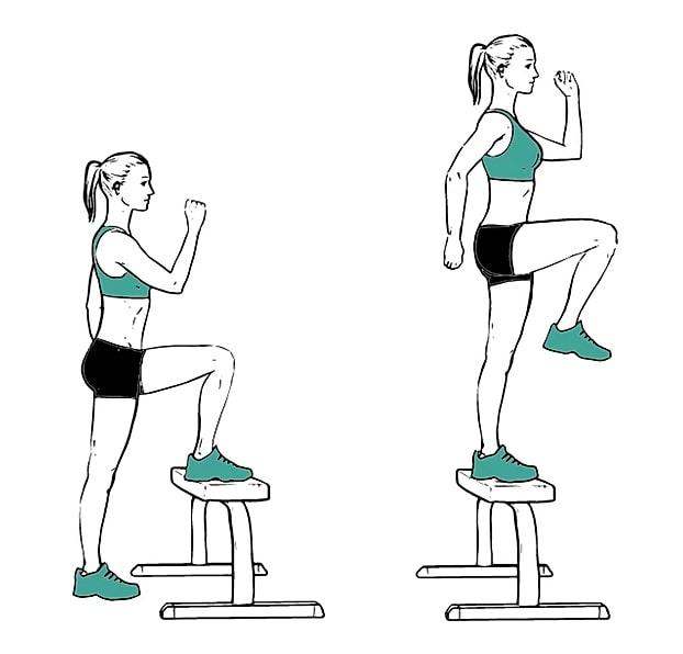 exercice fessiers fentes chaise sans matériel