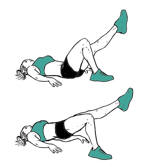 exercice fessiers hip thrust unilatéral sans matériel