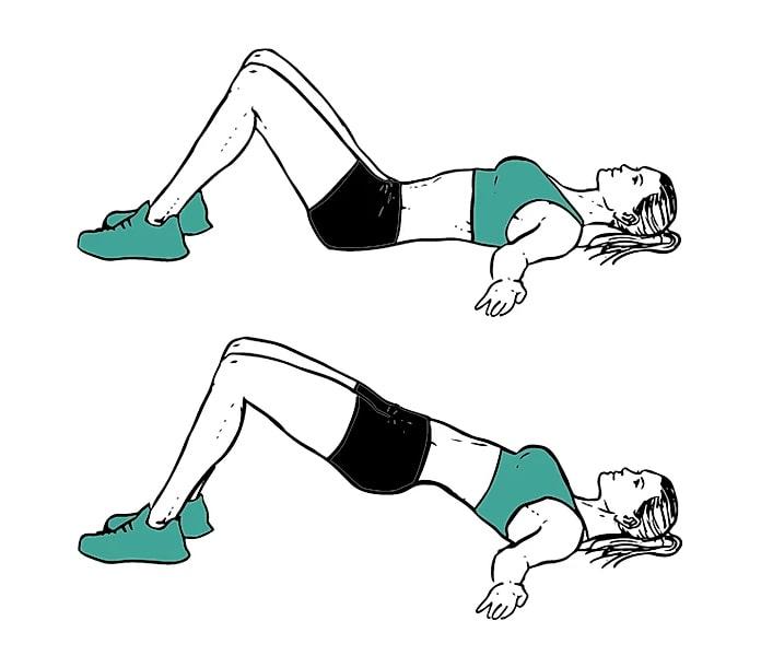 exercice fessiers hip thrust sans matériel